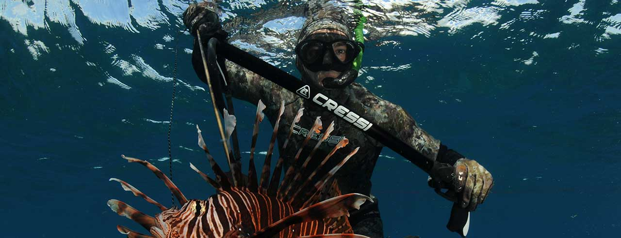 Spearfishing 10 times world champions